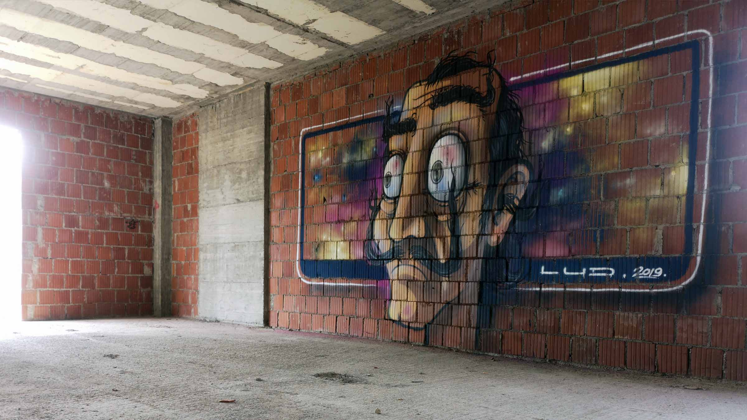 graffiti street art decoration portrait