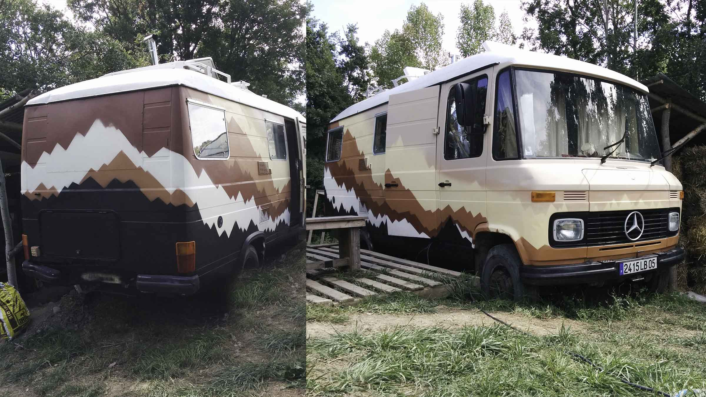 Street art van decovan