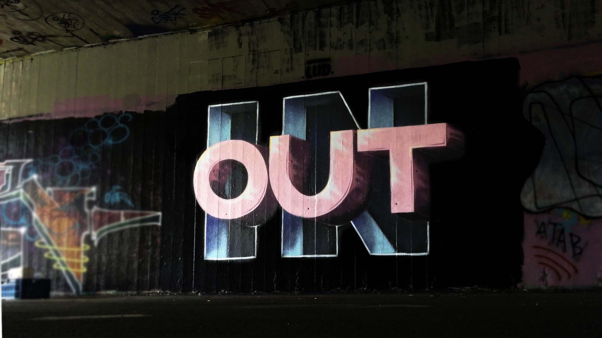 street art graffiti fresque trompe l'oeil anamorphose