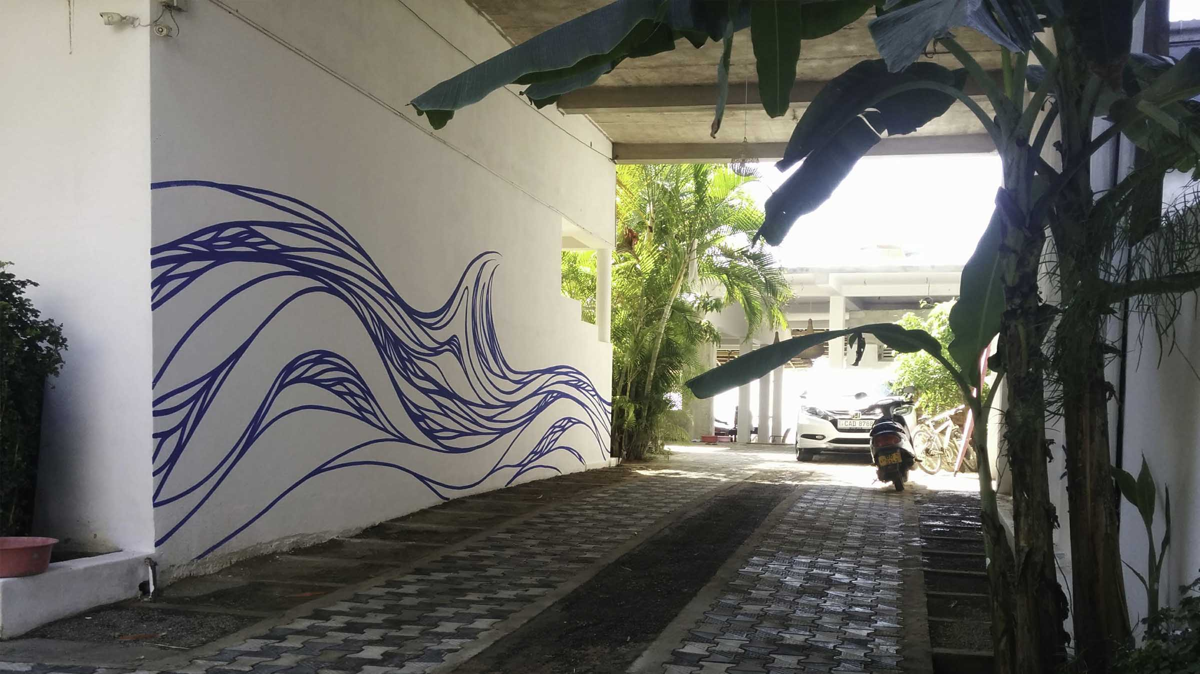waves street art graffiti